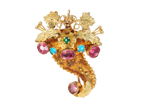 Cornucopia of Thanks: Georgian Brooch