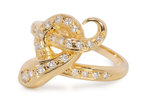 Why Not You? Diamond Snake Ring