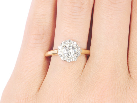 Diamonds Abound: Vintage Diamond Halo Ring