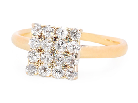 Vintage Tiffany & Co. Diamond Square Top Ring