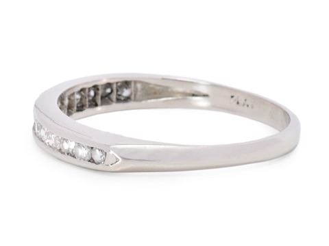 Romance in a Diamond Half Eternity Band