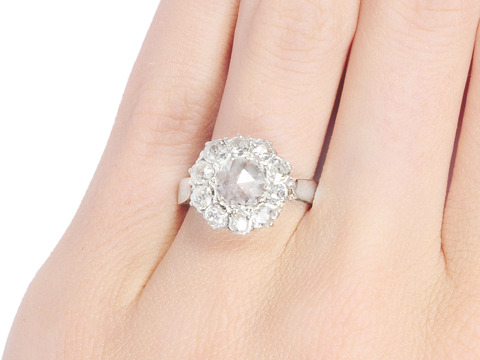 Art Deco Angel: Halo Diamond Ring