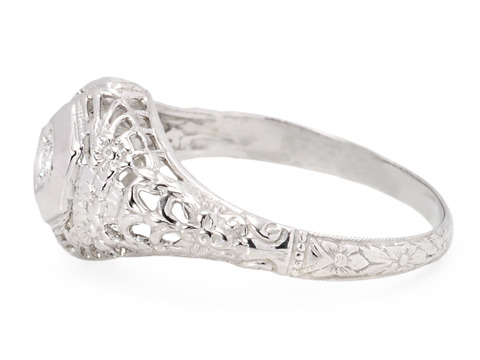 Sweetheart Worthy: Art Deco Solitaire Diamond Ring