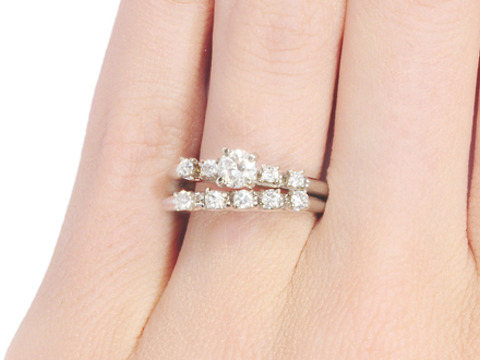 Art Deco Diamond Wedding Set
