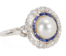 Antique Natural Saltwater Pearl Ring