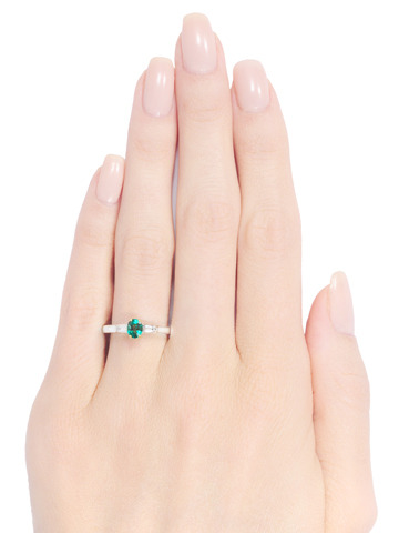 Tiffany & Co. Emerald Diamond Engagement Ring
