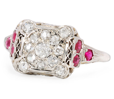 Recipe for Beauty: Diamond Ruby Ring