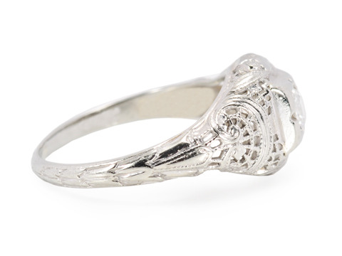Vintage Diamond Filigree Ring