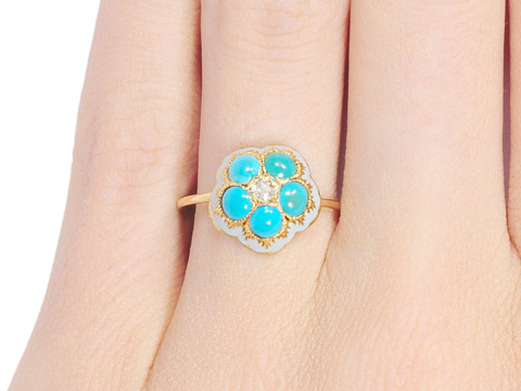 Tranquility in a Victorian Turquoise Ring