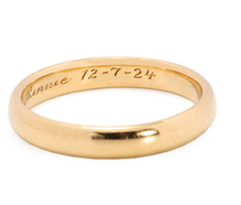 Tiffany & Co. Wedding Band Dated 1924
