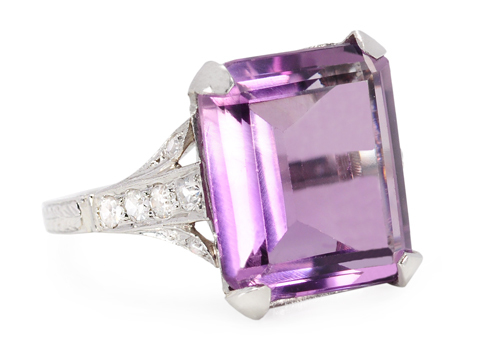 Hollywood Glam - Amethyst Diamond Ring