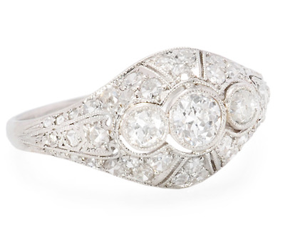 Dazzling Art Deco Diamond Dome Ring