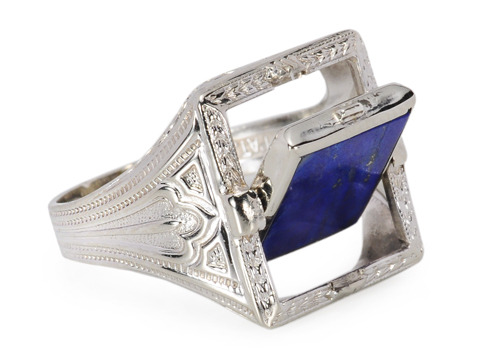 On the Flip Side: Art Deco Lapis Ring