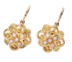 Antique French Pearl Earrings