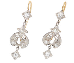 Edwardian Dance of Diamonds Earrings