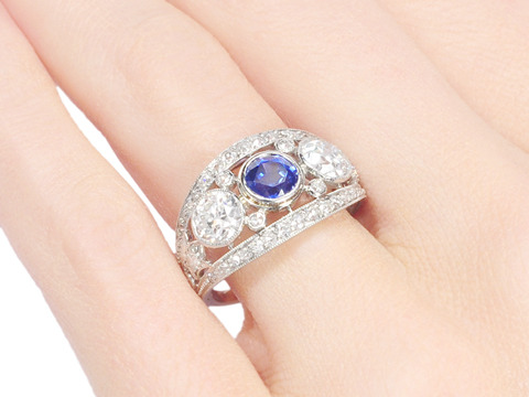 Fantasy to Reality - Sapphire & Diamond Ring