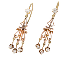 Victorian Lyre Girandole Earrings