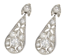 Antique Diamond Teardrop Earrings