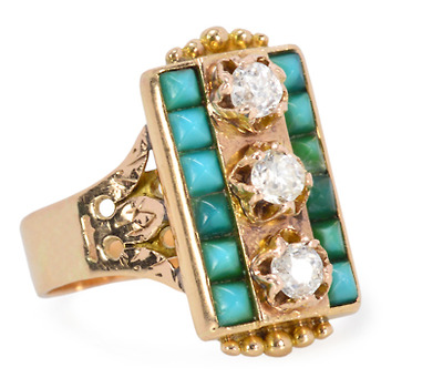 Turquoise Diamond Ring of 1881