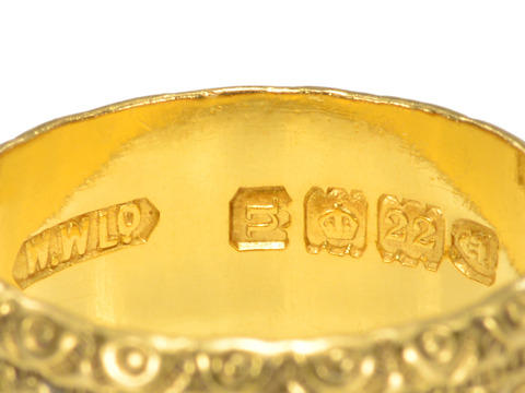 Antique English Eternity Band of 22K