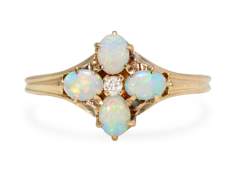 Ocean's Depths - Vintage Opal Ring