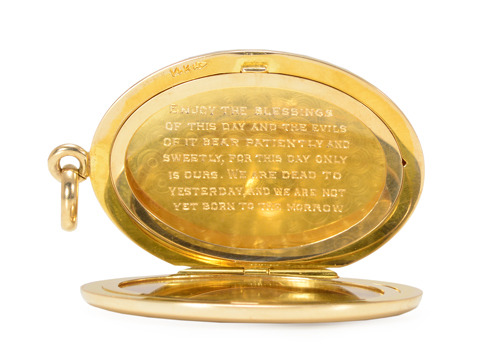 Antique Locket with Poetic Inscription