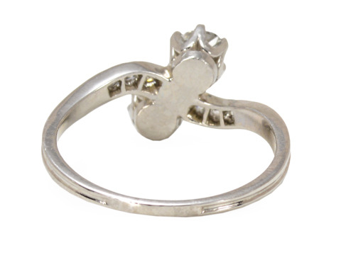 Antique Embrace: Moi et Toi Diamond Ring