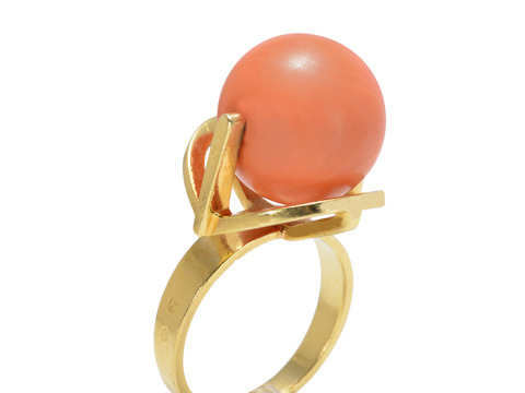 Kinetic Art: 1960s Coral Ring