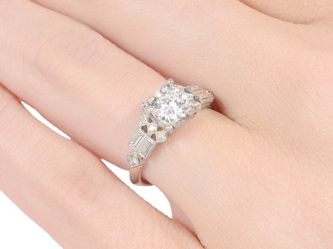 Chic Diamond Engagement Ring