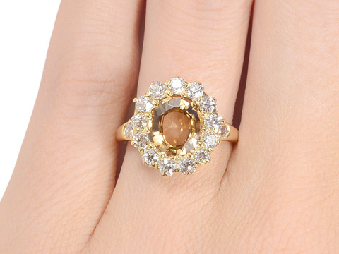 Magical Antique Zircon Cluster Ring