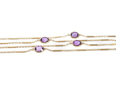 Swing High: Art Deco Amethyst Long Chain