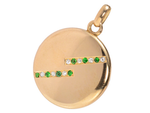 My Sentiments: Edwardian Demantoid Locket