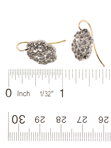 Georgian Paste Cluster Earrings c. 1780