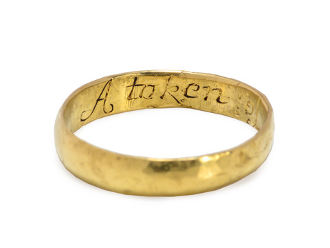 "Antique Poesy Ring: ""A Token of Love"""