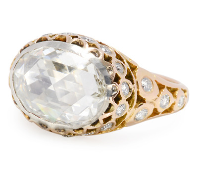 Incroyable: 2.35 c. Rose Cut Diamond Ring