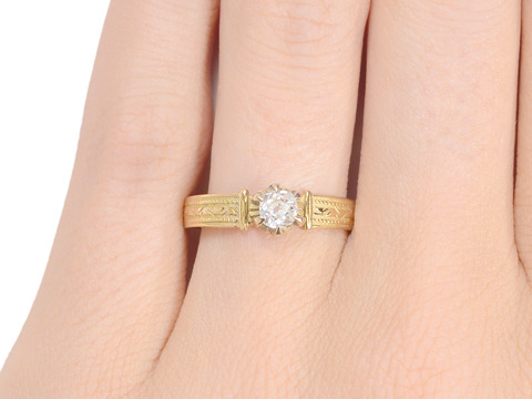 Sweet Sentiments: Antique Solitaire Diamond Ring