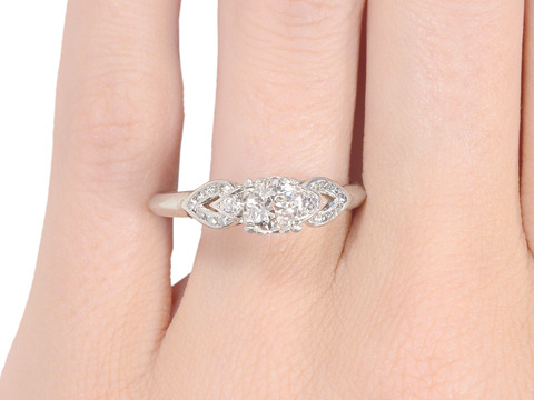 Two Hearts are One - Diamond Engagement Ring