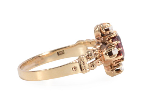 Victorian Antique Garnet Ring