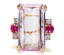 The Power Of Pink - Kunzite Ruby Ring