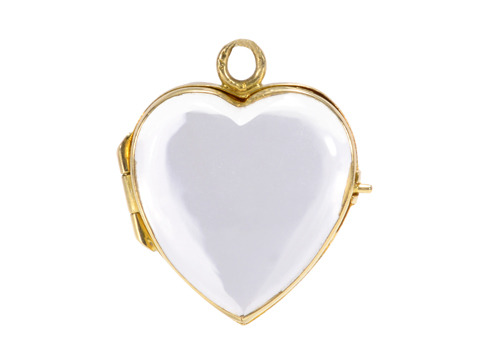 Seen by All? Rock Crystal Heart Locket