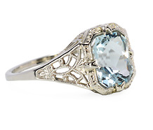 Heavenly 1.7 c. Aquamarine Ring