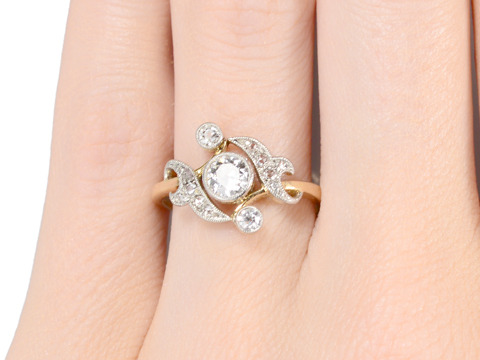 Excitement Galore: Antique Diamond Ring