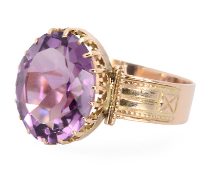 Victorian Queen: Natural Amethyst Ring
