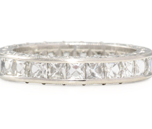 Breathtaking French Cut Diamond Eternity Ring