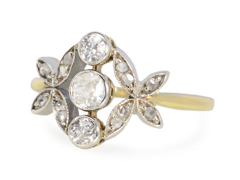 Edwardian in Nature Diamond Ring