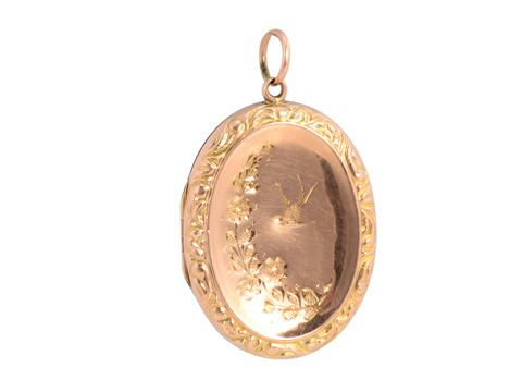 Delightful Flight: Rose Gold Bird Locket
