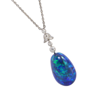 Mysterious Seduction - Black Opal Pendant Necklace