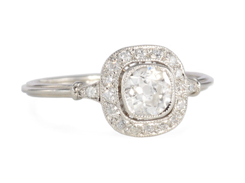 Afire Angel: Diamond Halo Ring
