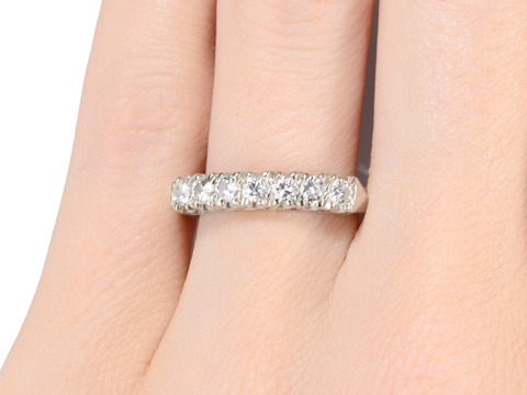 Sparkling Diamond Half Eternity Band