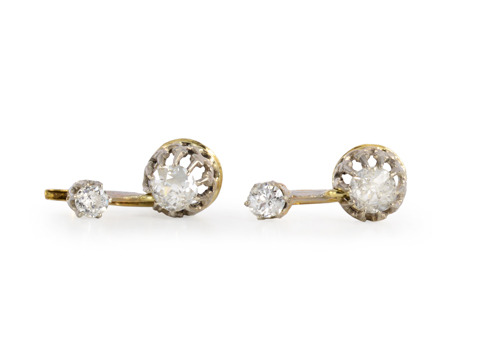 Swing This Way: Art Deco Diamond Earrings